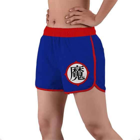 Dragon Ball King Piccolo Kanji Symbol Women's Beach Shorts