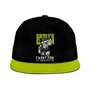 Dragon Ball Legendary Broly Train With Me Neon Green Snapback Hat