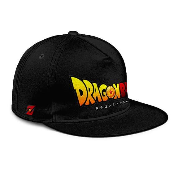 Dragon Ball Logo Minimalist Black Awesome Snapback Cap