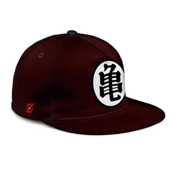 Dragon Ball Master Roshi Kanji Dark Maroon Cool Snapback Hat