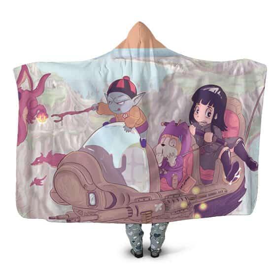 Dragon Ball Never Ending Search Mai, Shu, Pilaf Hooded Blanket