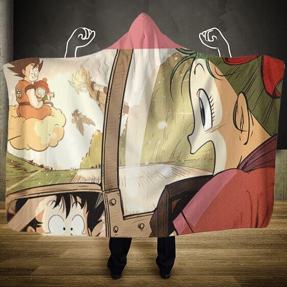 Dragon Ball The Progressive Life Of Son Goku Hooded Blanket