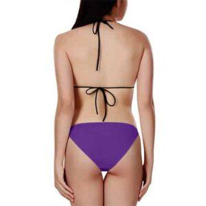 Dragon Ball Sexy Cheelai Green Purple Cool Bikini Swimsuit