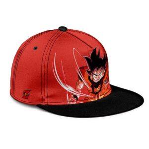 Dragon Ball Son Goku Base Form Kaioken Red Cool Snapback Cap