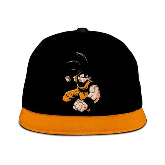 Dragon Ball Son Goku Minimalist Artwork Black Orange Snapback Hat