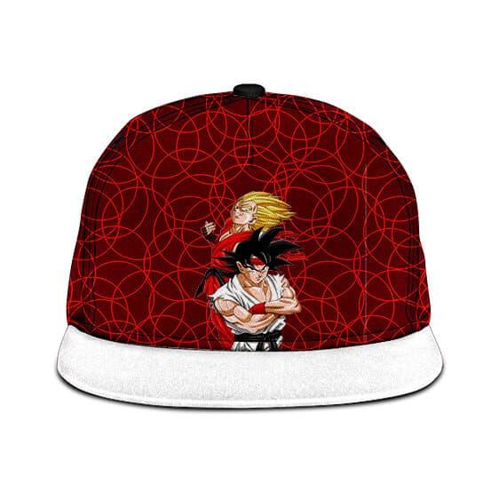 Dragon Ball Street Fighter Vegeta Son Goku Red White Snapback