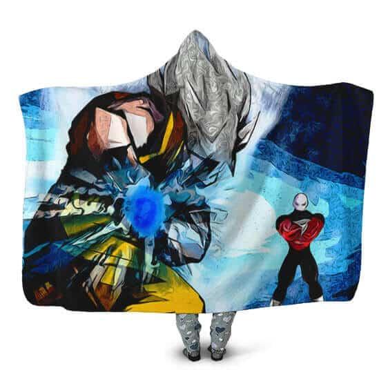 Dragon Ball Super Art Ultra Instinct Kamehameha Hooded Blanket