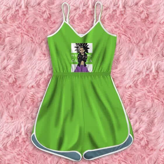 Dragon Ball Super It's Your Girl Caulifla Green Romper