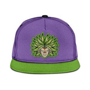 Dragon Ball Super Legendary Broly Flat Design Purple Green Snapback Hat