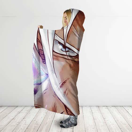 Dragon Ball Super Piercing Gaze Ultra Instinct Hooded Blanket