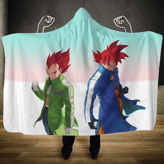 Dragon Ball Super Saiyan God Goku Vegeta Hooded Blanket