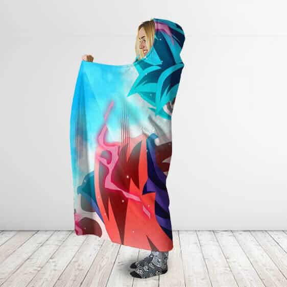 Dragon Ball Super Saiyan God X Kaioken Cool Hooded Blanket