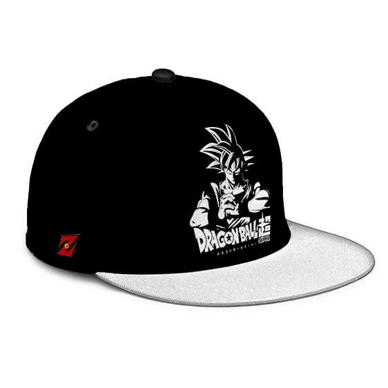 Dragon Ball Super Son Goku Base Form Black White Snapback Hat