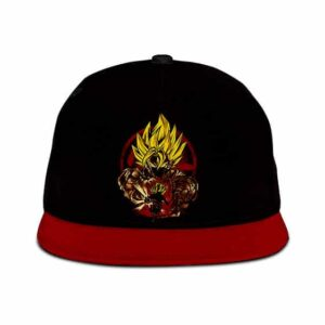 Dragon Ball Super Son Goku SSJ2 Cool Artwork Red Black Snapback Hat