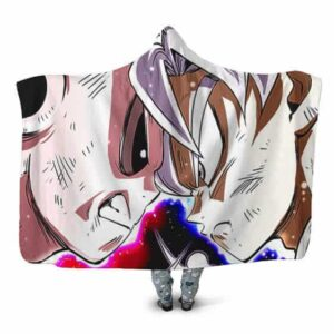 Dragon Ball Super Ultra Instinct Goku Vs Jiren Hooded Blanket