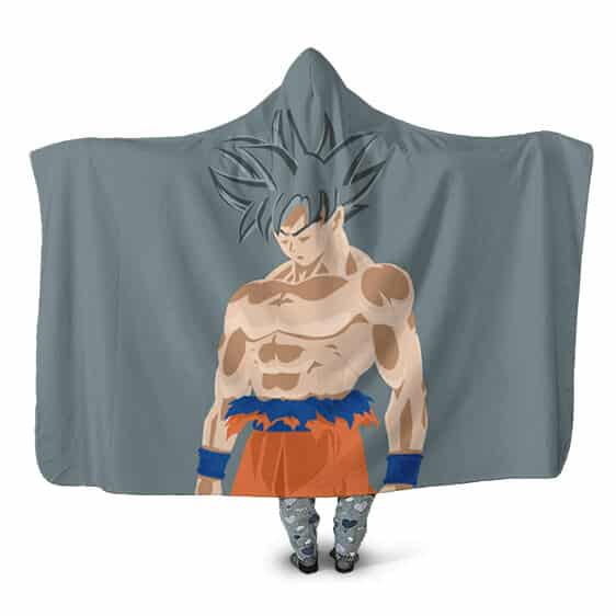 Dragon Ball Super Ultra Instinct Vector Art Hooded Blanket