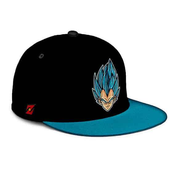 Dragon Ball Super Vegeta SSGSS Black Blue Snapback Cap