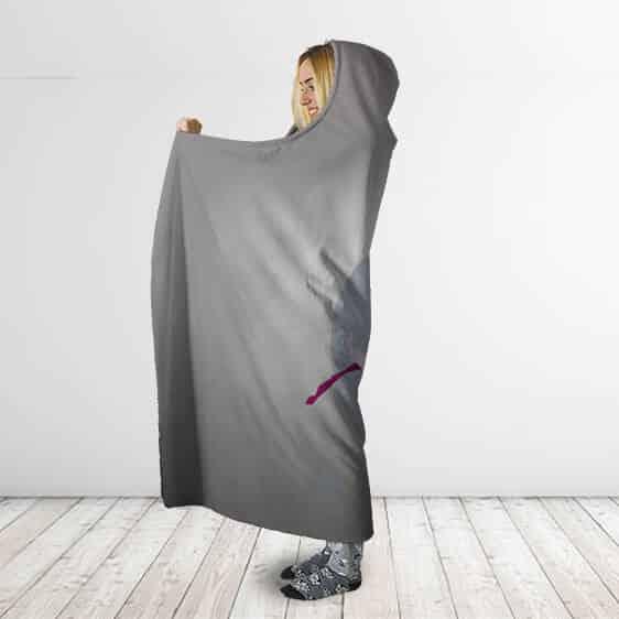 Dragon Ball Super Whis Metal Gray Vector Art Hooded Blanket