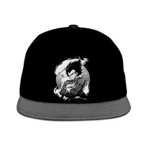 Dragon Ball Vegeta Base Form Awesome Black Gray Snapback Hat