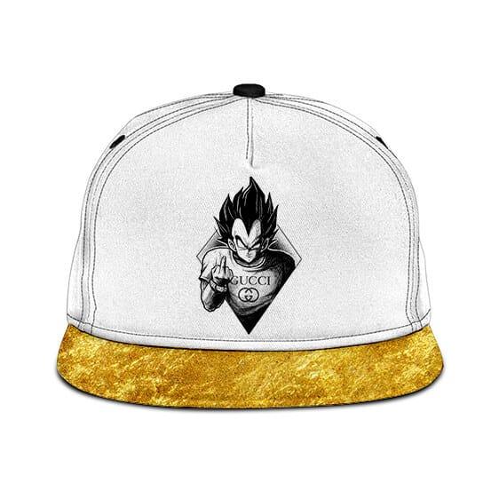 Dragon Ball Vegeta Middle Finger Gucci Gold Dope Snapback
