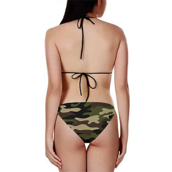 Dragon Ball Vegeta Super Saiyan Camouflage Two Piece Bikini
