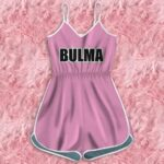 Dragon Ball Young Bulma Pink Outfit Capsule Corp Romper