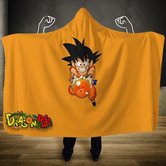 Dragon Ball Young Goku Grabbing Dragon Ball Hooded Blanket