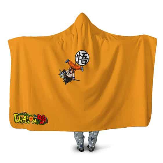 Dragon Ball Young Goku Hanging Upside Down Cool Hooded Blanket