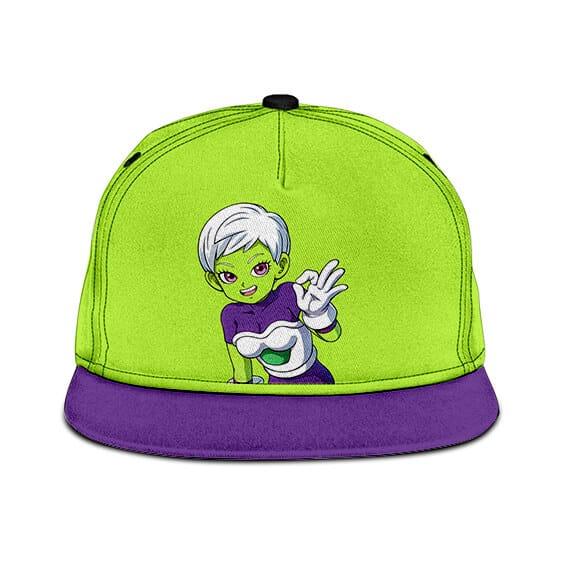 Dragon Ball Z Adorable Cheelai Neon Green Violet Awesome Snapback