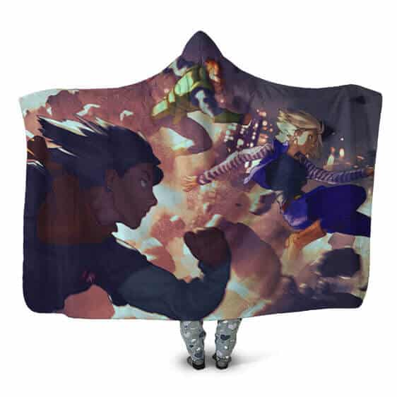Dragon Ball Z Attack Of The Androids Of Future Hooded Blanket