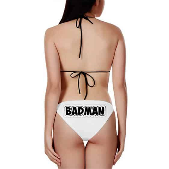 Dragon Ball Z Badman Vegeta Sexy White Bikini Swimsuit
