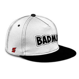 Dragon Ball Z Badman Vegeta White Black Awesome Snapback Cap