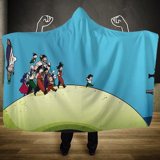Dragon Ball Z Behind The Scene Ending Gohan Hooded Blanket