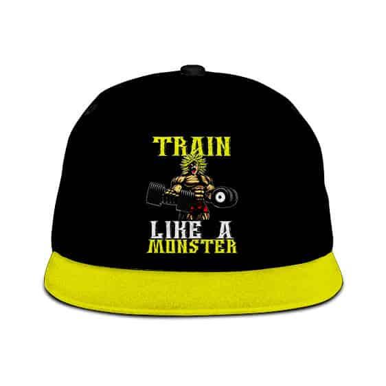 Dragon Ball Z Broly Train Like A Monster Black Yellow Cool Snapback Hat