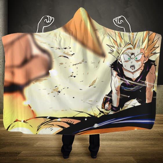 Dragon Ball Z Cell Saga Goku's Farewell POV Hooded Blanket