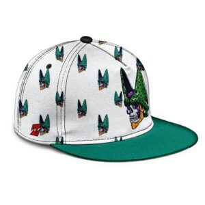 Dragon Ball Z Cell Skull Vectorized With Cell Junior Amazing Snapback