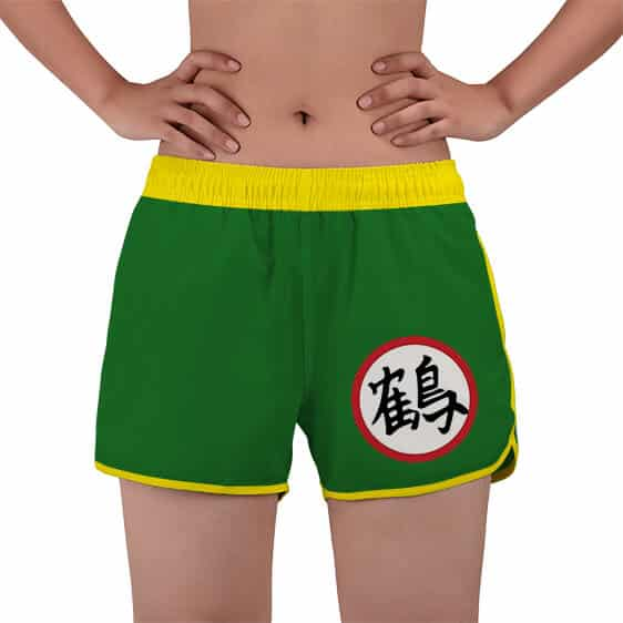 Dragon Ball Z Chiaotzu Kanji Symbol Women's Swim Shorts