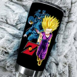 Dragon Ball Z Fierce SSJ2 Son Gohan Vs Cell Juniors Tumbler
