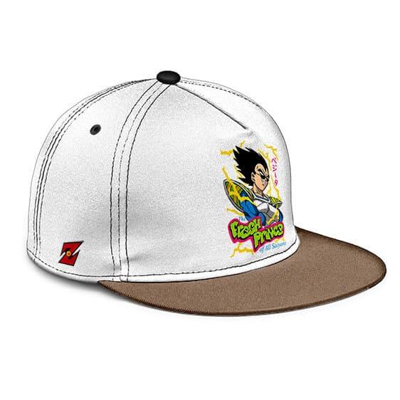 Dragon Ball Z Fresh Prince Vegeta Awesome Black Beige Snapback Cap