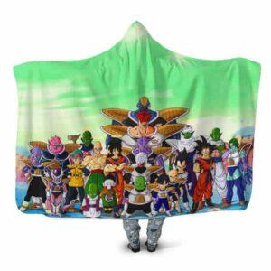 Dragon Ball Z Frieza Saga Battle of Namek Cast Hooded Blanket