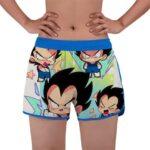 Dragon Ball Z Funny Chibi Vegeta Art Women's Beach Shorts