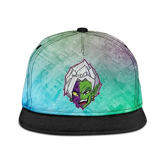 Dragon Ball Z Fused Zamasu Colorful Artwork Green Purple Snapback Cap