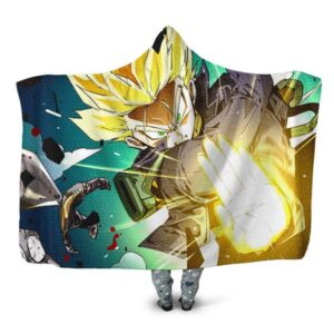 Dragon Ball Z Future Trunks Finishes Frieza Hooded Blanket