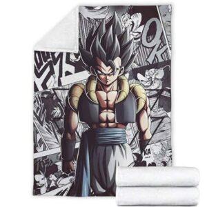 Dragon Ball Z Gogeta Comics Background Awesome Throw Blanket