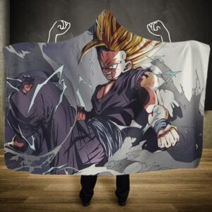 Dragon Ball Z Gohan Super Saiyan 2 Cell Saga Hooded Blanket