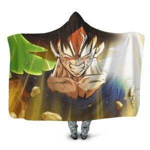 Dragon Ball Z Goku Becomes Legendary Saiyan Hooded Blanket