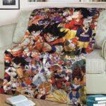 Dragon Ball Z Goku Vegeta Frieza With Supporting Characters Blanket