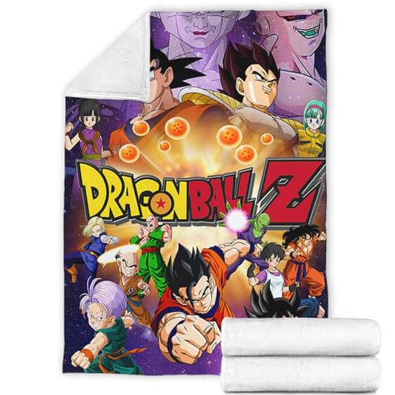 Dragon Ball Z Goku Vegeta Piccolo Kid Trunks Others Dope Poster Fleece Blanket
