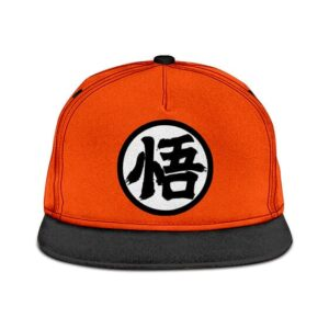 Dragon Ball Z Goku's Kanji Symbol Orange Black Snapback