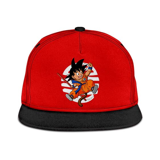 Dragon Ball Z Happy Kid Goku Wonderful Red Snapback